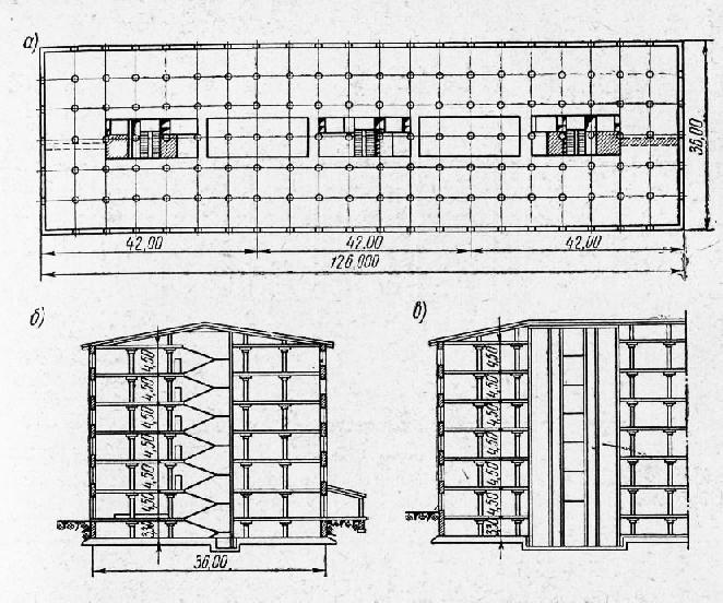 Схема многоэтажного типового