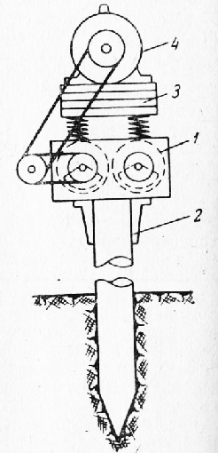 Схема вибропогружателя с